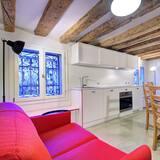 Lejlighed - 1 soveværelse - udsigt til kanal - stueetage - Opholdsområde