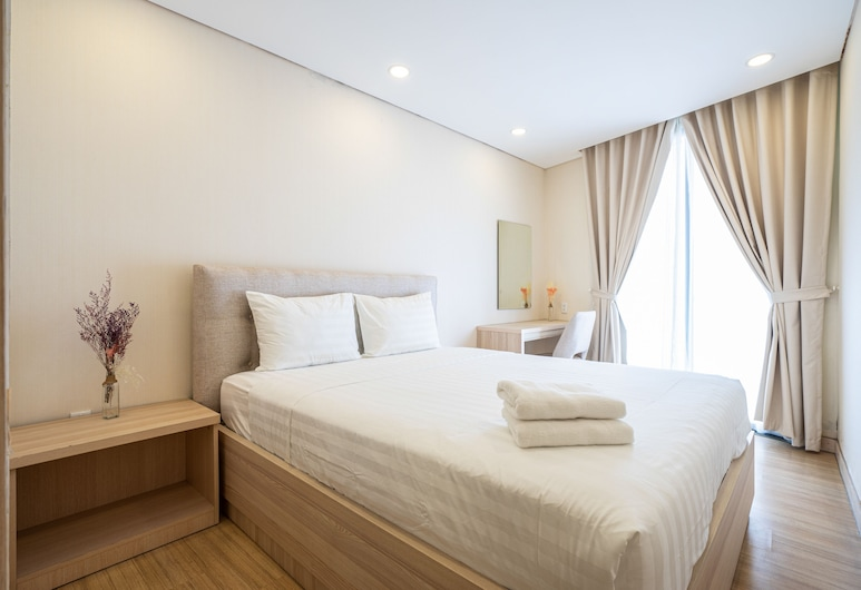 ラクシー パーク ホテル & アパートメンツ ノートル ダム, ホーチミン, デラックス アパートメント クイーンベッド 1 台 バルコニー, 部屋