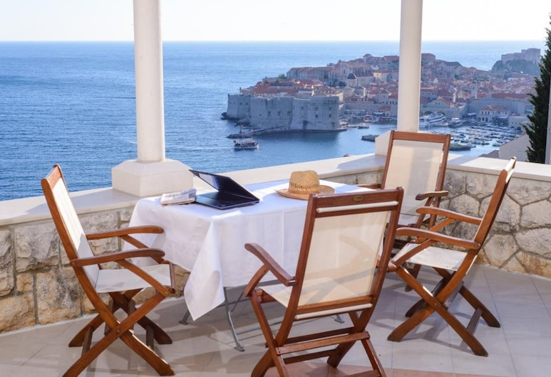 Ploce Apartments- Adults only, Dubrovnik, Estúdio conforto, Terraço, Vista para o mar, Varanda