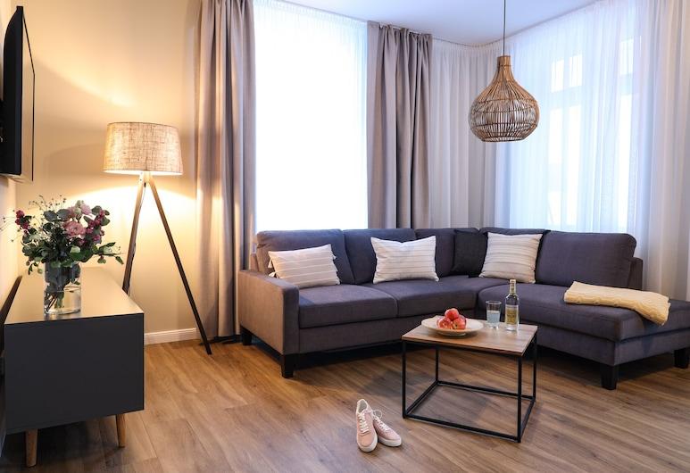 Villa Oestereich, Binz, Suite Junior (final cleaning fee of 95 EUR incl), Ruang Keluarga