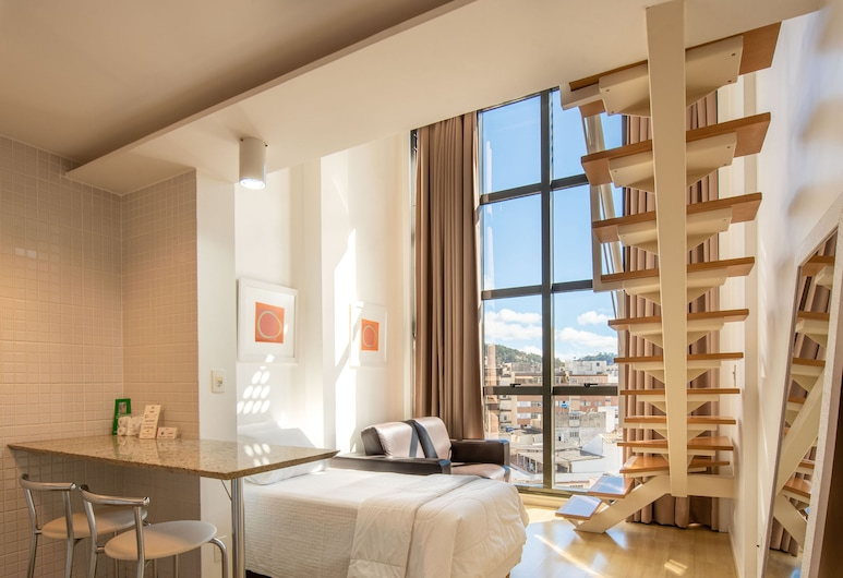 Hotel Habitare, Nova Friburgo, Apartamento executivo, Quarto