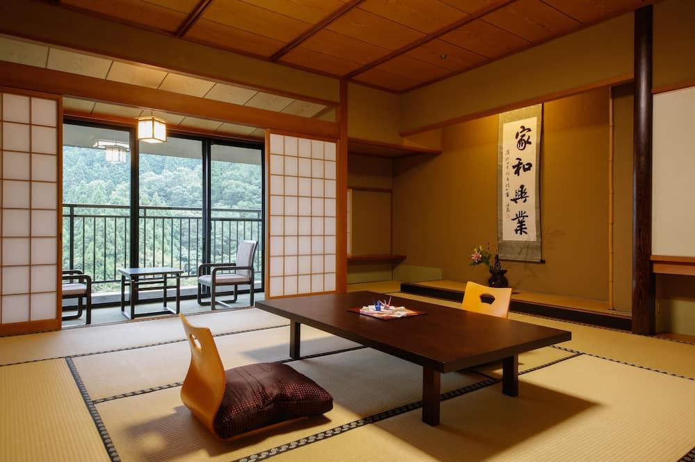 Traditional Room, Smoking (Japanese Style, Open-Air Bathroom) - Ruang Tamu