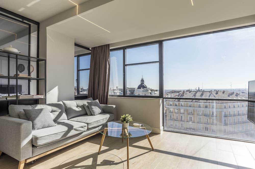 شقة - غرفة نوم واحدة - منظر للمدينة (A3) - غرفة معيشة
