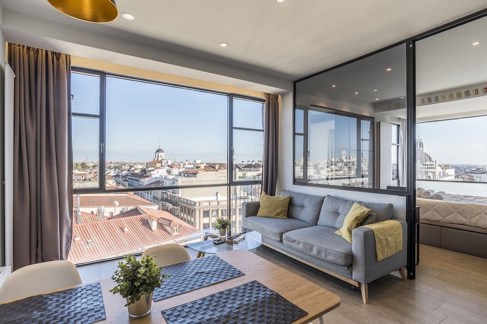 شقة - غرفة نوم واحدة - منظر للمدينة (A2) - غرفة معيشة