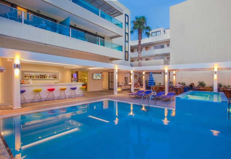 Philippion Hotel & Apartments, Cos, Bar Junto à Piscina
