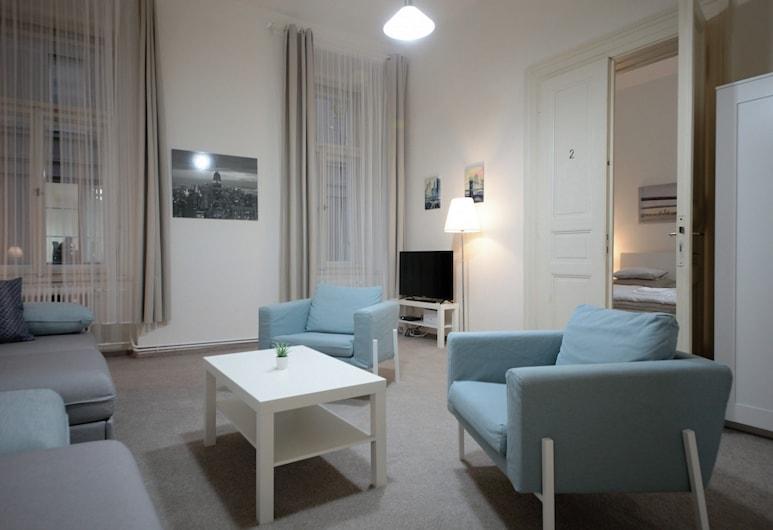 Aparthotel Wenceslas, Prague, Family Apartment (#72), Living Area