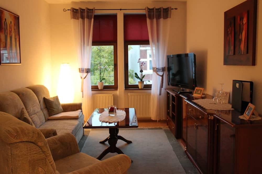 Suite, Blick auf den Innenhof - Wohnzimmer