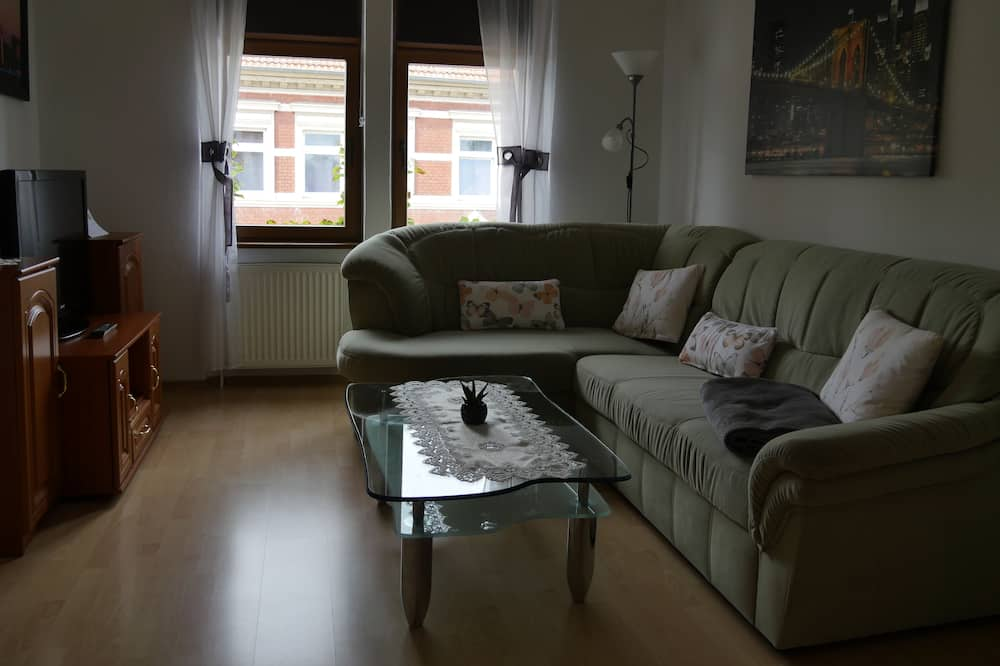 Suite, Stadtblick - Wohnzimmer