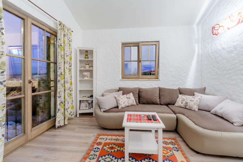 公寓, 2 間臥室, 露台, 海景 - 客廳