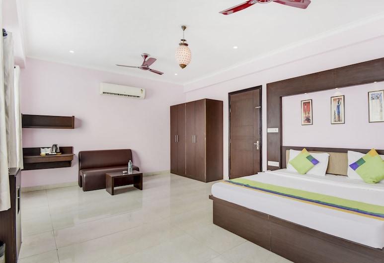 Treebo Trend Sahibs Stay Fine, Jaipur, Quarto luxo, Quarto