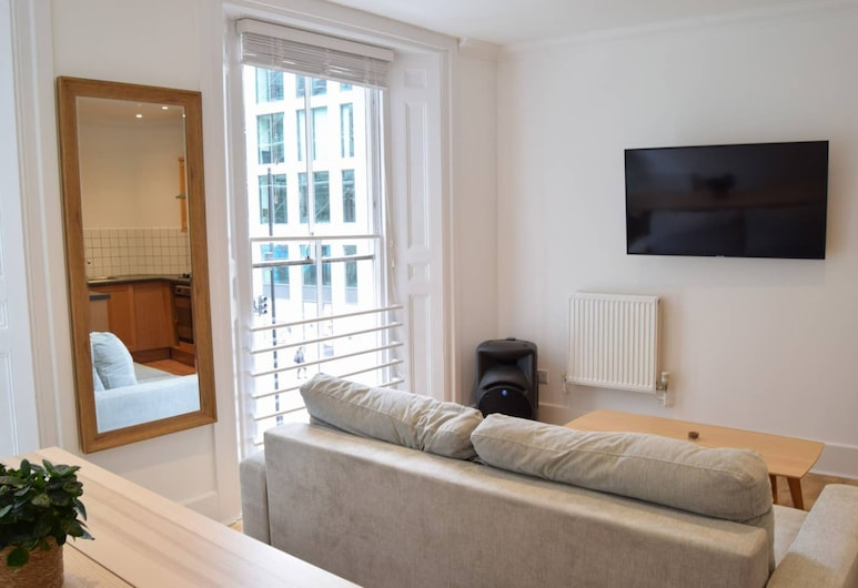 Central and Spacious City of London Apartment, Lontoo, Olohuone