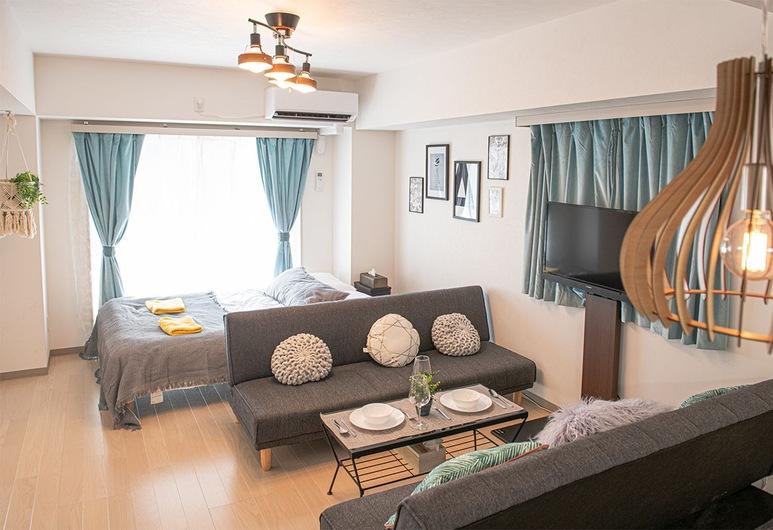 LY INN Ryogoku Annex, Tokyo, Deluxe Family Room, Living Area