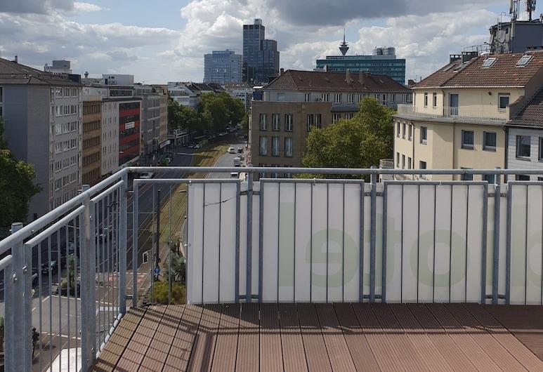 Studiotel Top Loft, Düsseldorf, Habitación básica doble, Balcón