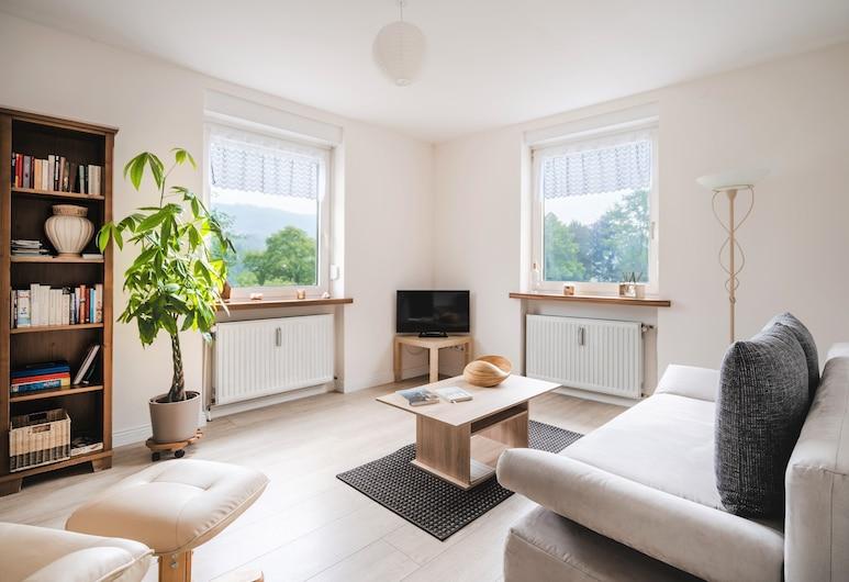 Haus Moselwiese, Alf, Departamento, vista al patio (Fewo 2), Sala de estar