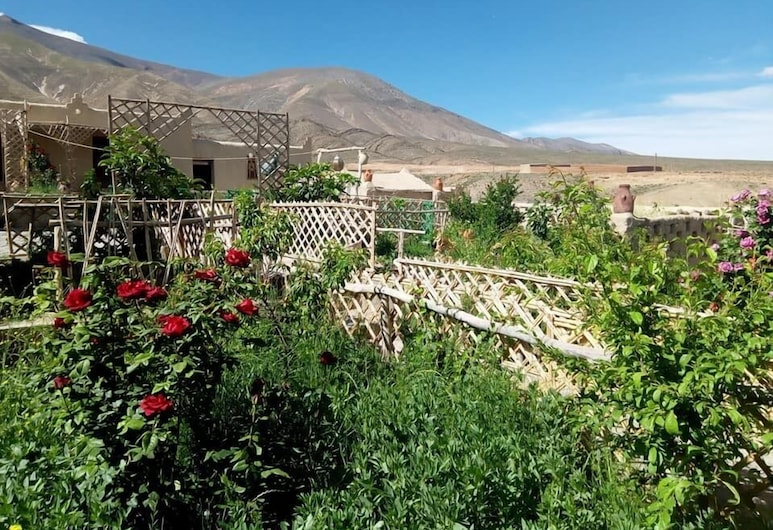 palacio zaouit sidi hamza, Zaouiat Sidi Hamza, Habitación cuádruple tradicional, Jardín