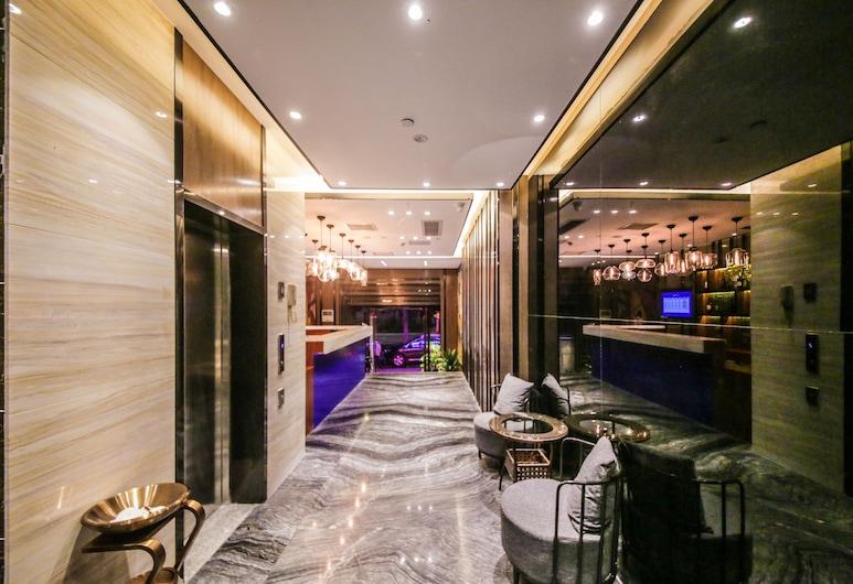 Zmax Hotel (Guangzhou Pazhou Exhibition Center Chigang Metro Station), Canton, Salottino della hall