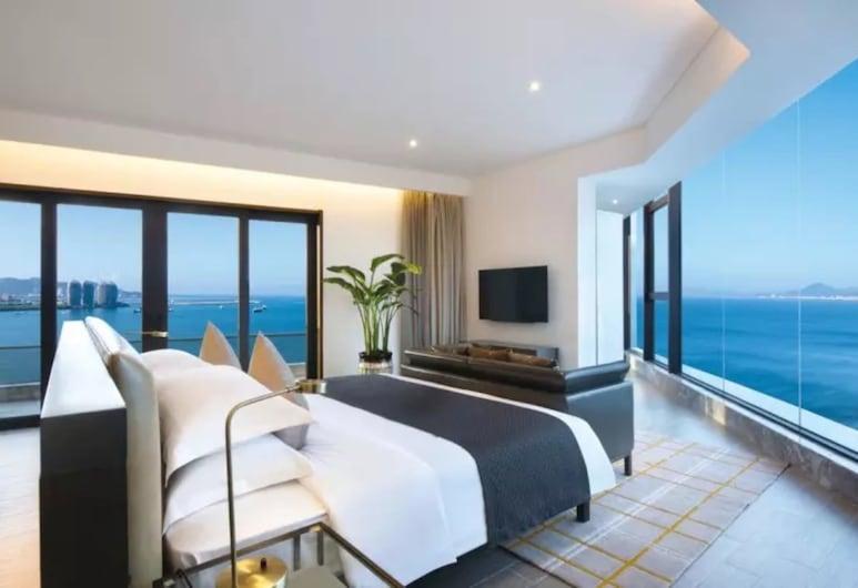 Sanya Rock Platinum Seaveiw Hotel, Sanya, Suite Premium, pemandangan laut, Kamar Tamu