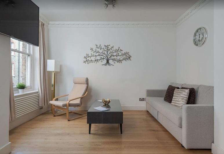 貝克街馬里波恩豪華公寓酒店, 倫敦, 公寓, 2 間臥室, 客廳