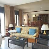 Apartament, 3 sypialnie, balkon, widok na plażę - Salon