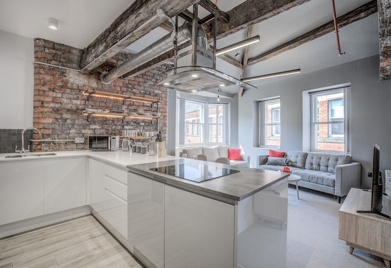 The Lightwell Apartments - Stunning, Central & Luxurious, Manchester, Luxury Apartment (20), Private kitchen