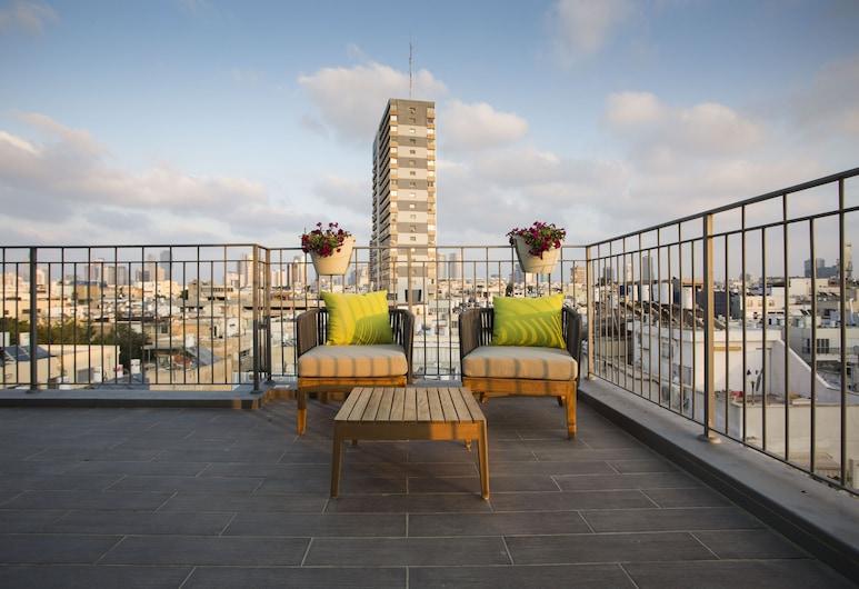 埃米利雅 TLV 酒店, 特拉維夫, Deluxe Penthouse Suite, 露台