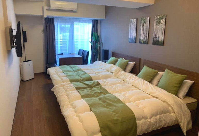 ARlis house Shin Osaka North, Osaka, Double Room, 2 Double Beds, Non Smoking, Room