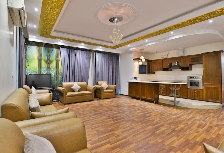 OYO 288 Diafati Residential Units, Al Khobar, Deluxe-Apartment, 3Schlafzimmer, Wohnbereich