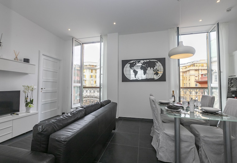 Homes in Genoa, Genova, Superior appartement, 1 slaapkamer (BLACK & WHITE), Woonruimte
