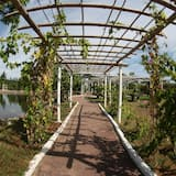 Bungalow familiar, vista al lago - Vista al jardín