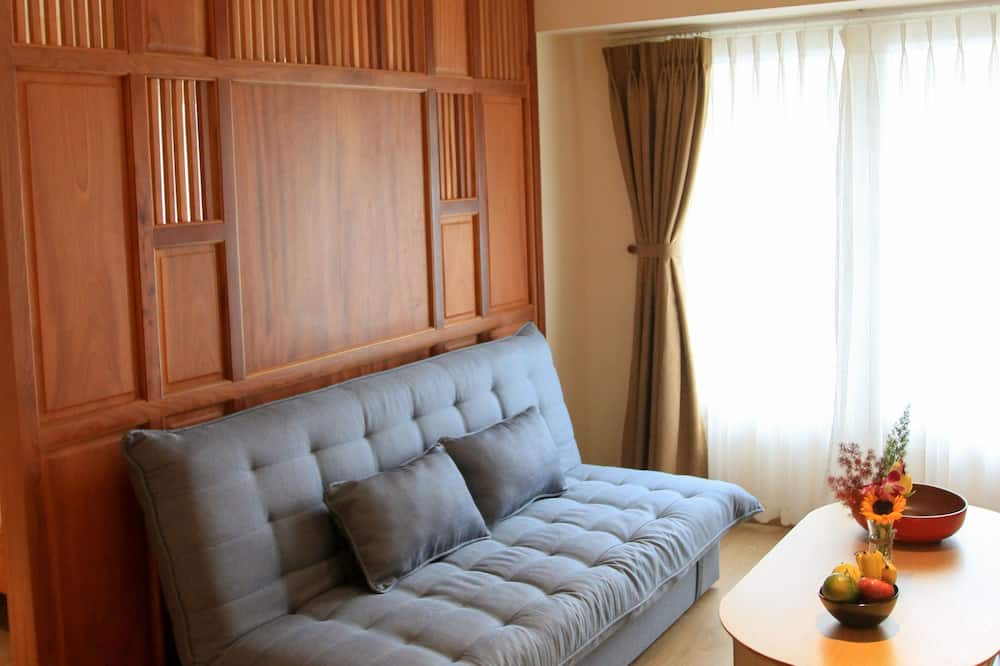 開放式客房, 簡易廚房, 河景 - 客廳