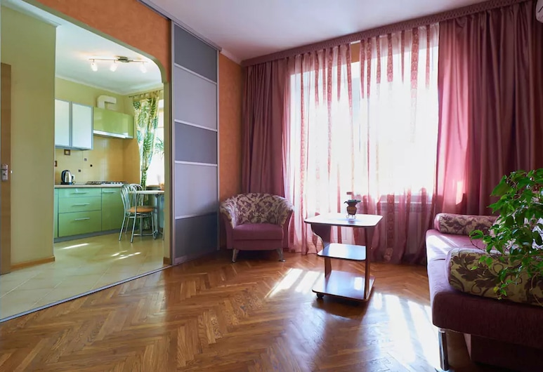 Home-Hotel Malaya Zhitomirskaya 10-2, Kyiv, Appartement, Coin séjour