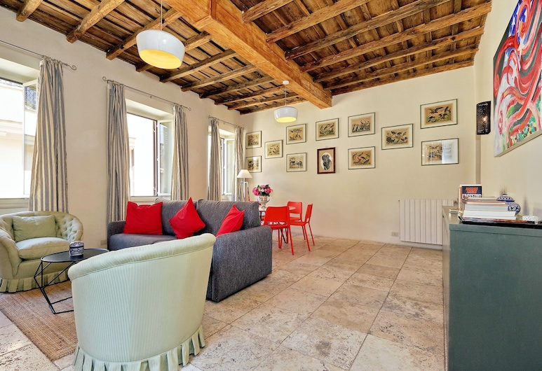 Pavone Charme - My Extra Home, Rome, Apartment, 2 Bedrooms, Living Room