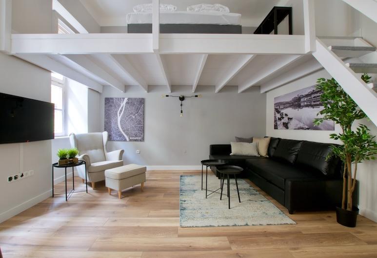 Standard Apartment by Hi5 - Rákóczi út 23, Budapest, Studio (174), Oppholdsområde