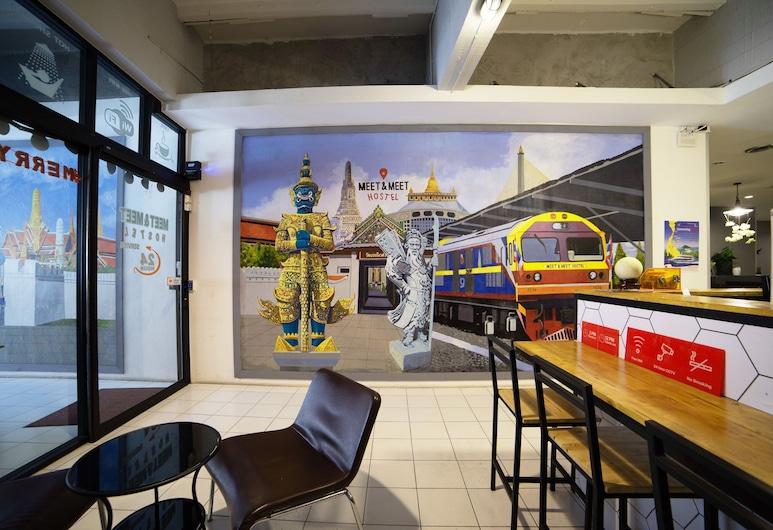 OYO 532 Meet & Meet Hostel, Bangkok, Zitruimte lobby