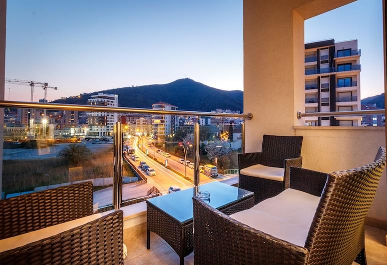 Luxury Budva Center Apartments, Budva, Premium külaliskorter, 2 magamistoaga, saun, Rõdu
