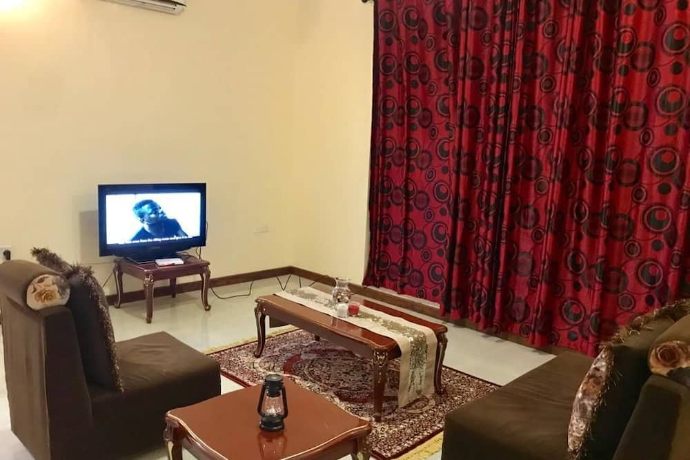 Apartment, 1 Double Bed + 2 Single Beds - Sala de estar