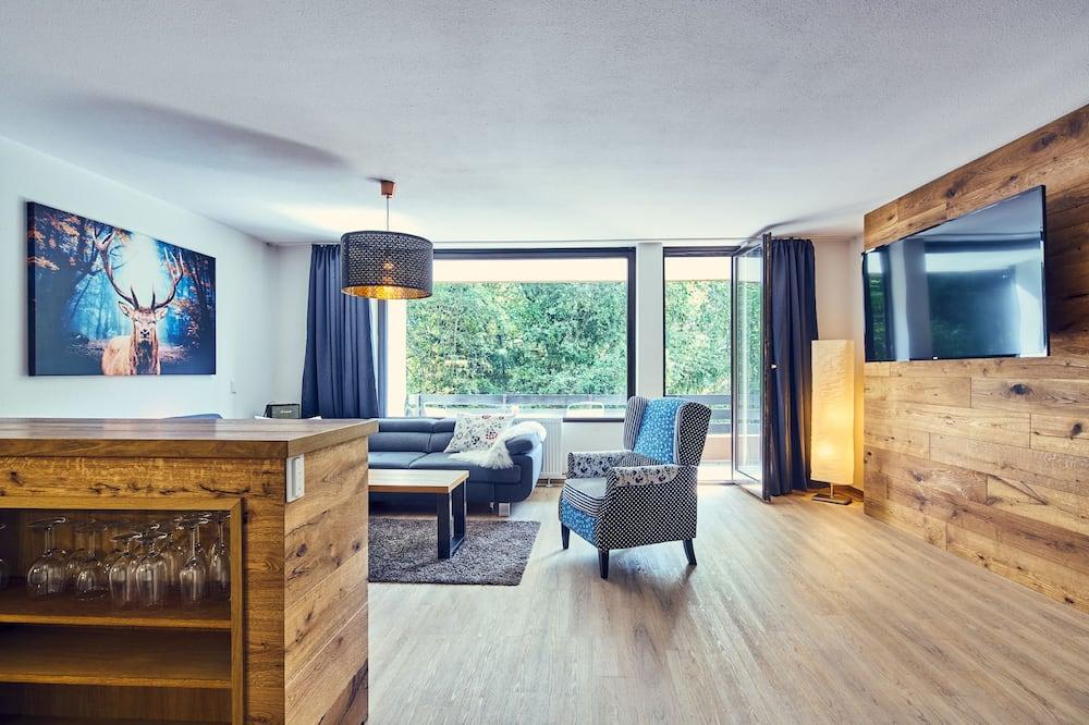 Apartmán typu Superior, 1 ložnice, terasa - Obývací pokoj