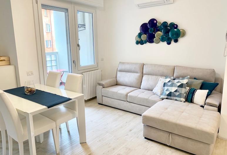 Ausel Apartments, Milaan, Appartement, 3 slaapkamers, terras (5th floor), Woonkamer