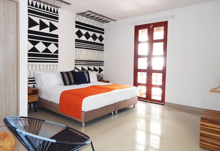 Ethnic Thematic Hotel, Cartagena, Superior Room, 1 King Bed, City View, Guest Room
