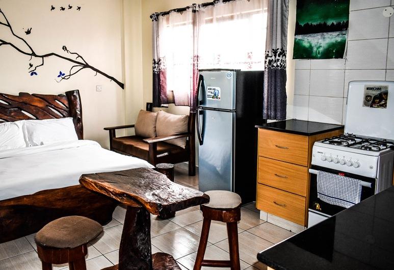 手ごろな価格で家具付きのスタジオ、アパートメント, ナイロビ, クラシック スタジオスイート (1 Queen Bed), 部屋