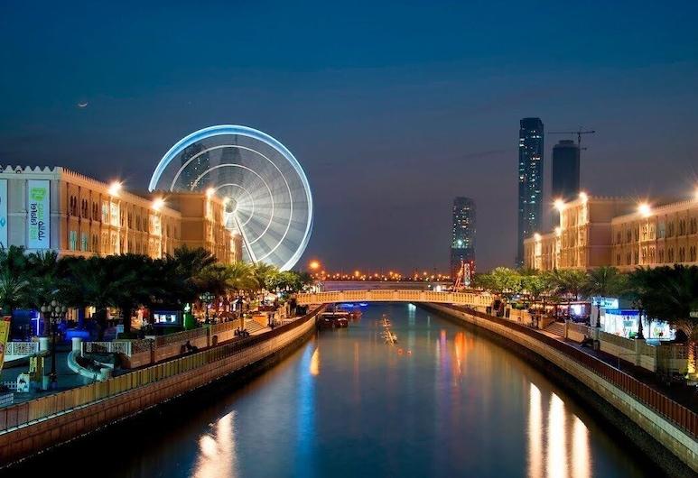 الروضة للشقق الفندقية, الشارقة, منظر المدينة من المنشأة