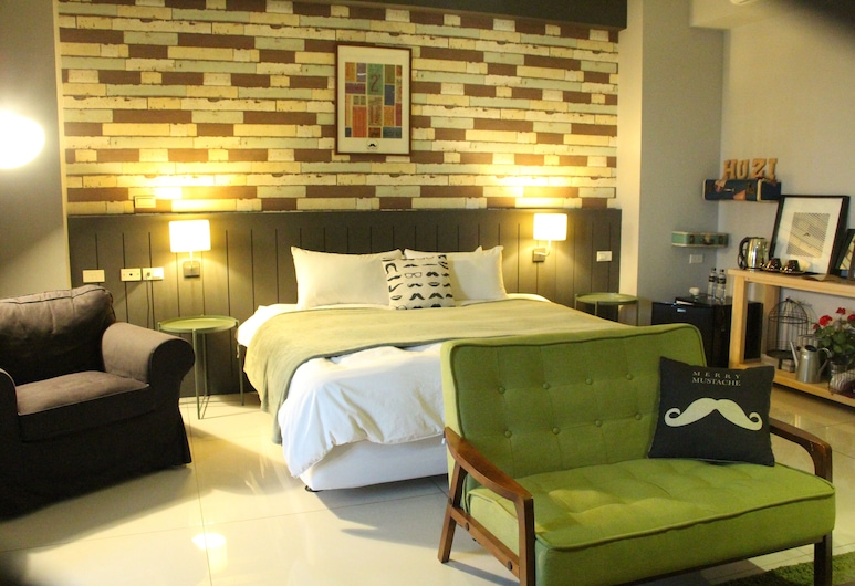 Huzi Room, Tainan, Deluxe Double Room, Bathtub (401.501), Guest Room