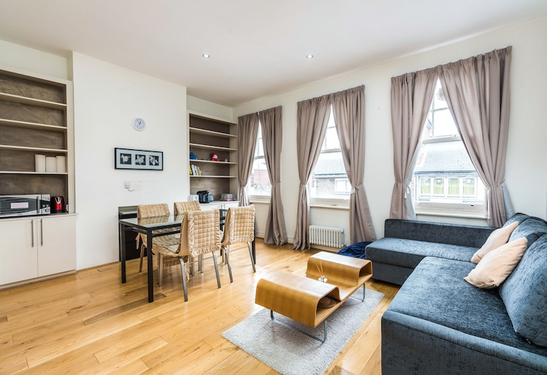 Sleek 2BD Flat Super Central to London Town!, London, Apartment (2 Bedrooms), Wohnbereich
