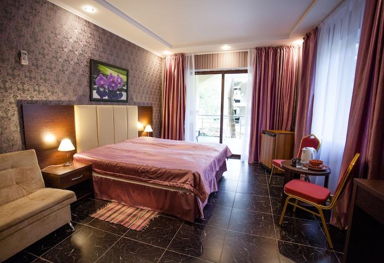 Alla-bay Hotel, Dżubga, Pokój dwuosobowy, luksusowy, 1 sypialnia, kuchnia, widok na morze, Pokój