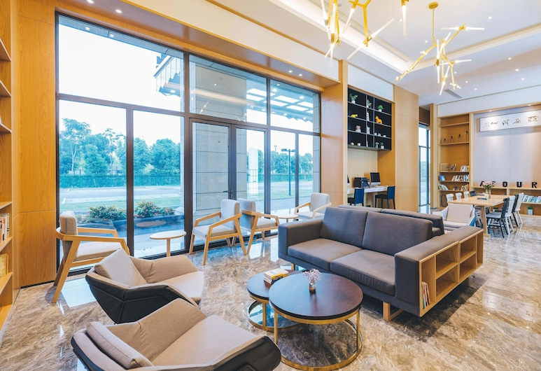 Atour Light Hotel Wuchang Railway Station Wuhan, Wuhan, Zitruimte lobby