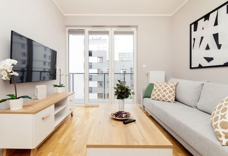 Business Mokotow Park 215 Apartment, Варшава, Улучшенные апартаменты, Гостиная