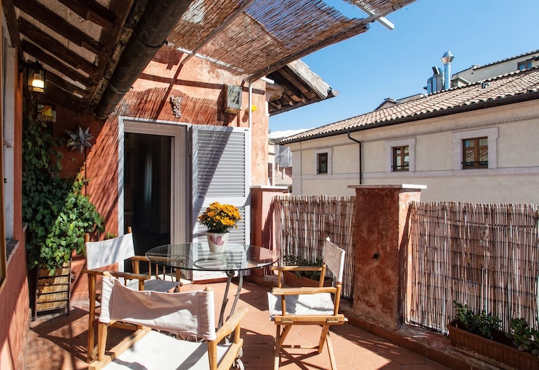 Amazing Apartment With Terrace in Piazza del Fico, Close Piazza Navona, Rome, Appartement (1 Bedroom), Terras