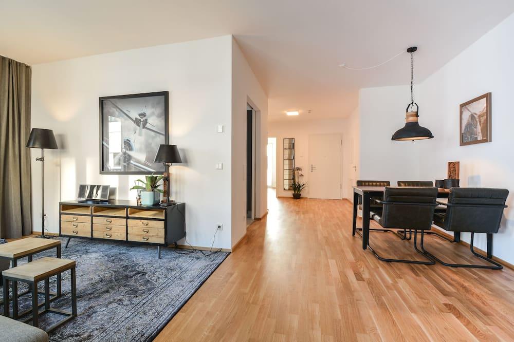 Design-Apartment, 1 Schlafzimmer (Kontaktloser Check-in - F) - Essbereich im Zimmer