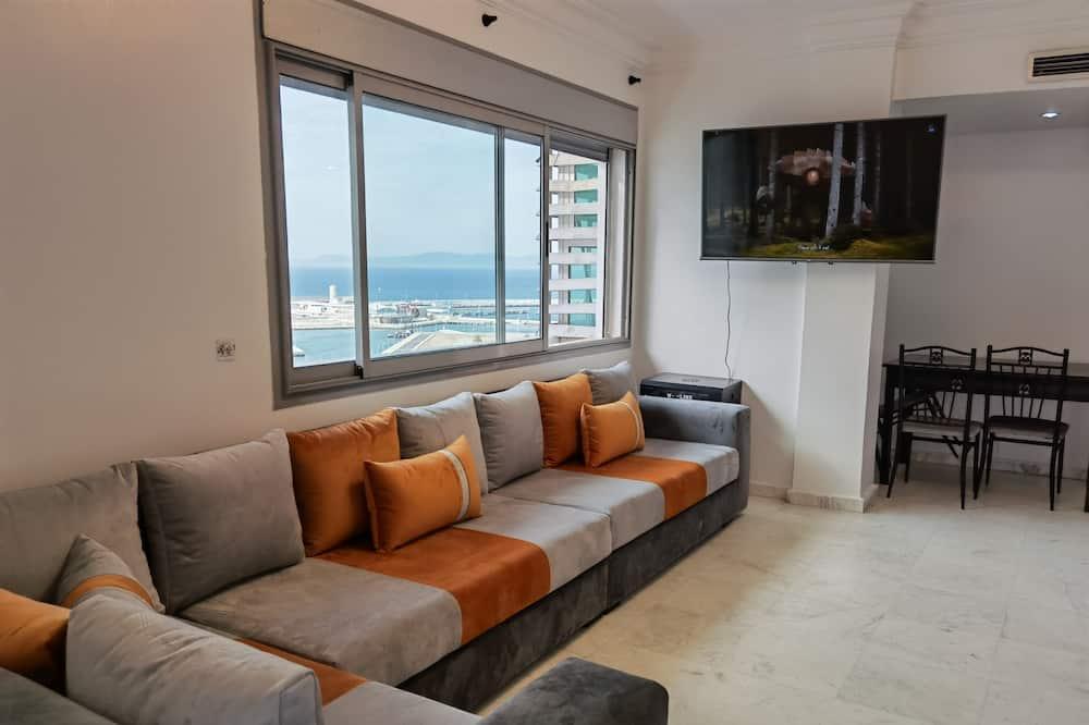 Basic-lejlighed - 2 soveværelser - udsigt til havn - Værelse