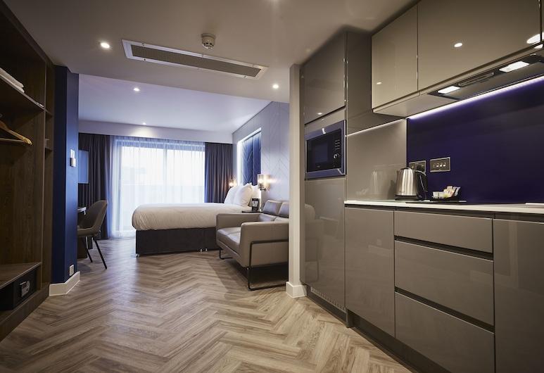 約克城羅姆茲飯店, 約克, 標準開放式客房, 陽台, 客房內小型廚房